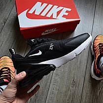 Мужские кроссовки в стиле Nike Air Max 270 Black/White, фото 2