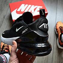 Мужские кроссовки в стиле Nike Air Max 270 Black/White, фото 3