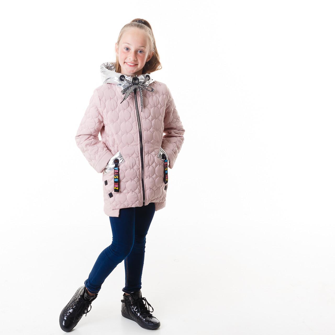 Демисезонная куртка  для девочки, размеры на рост 116 - 142