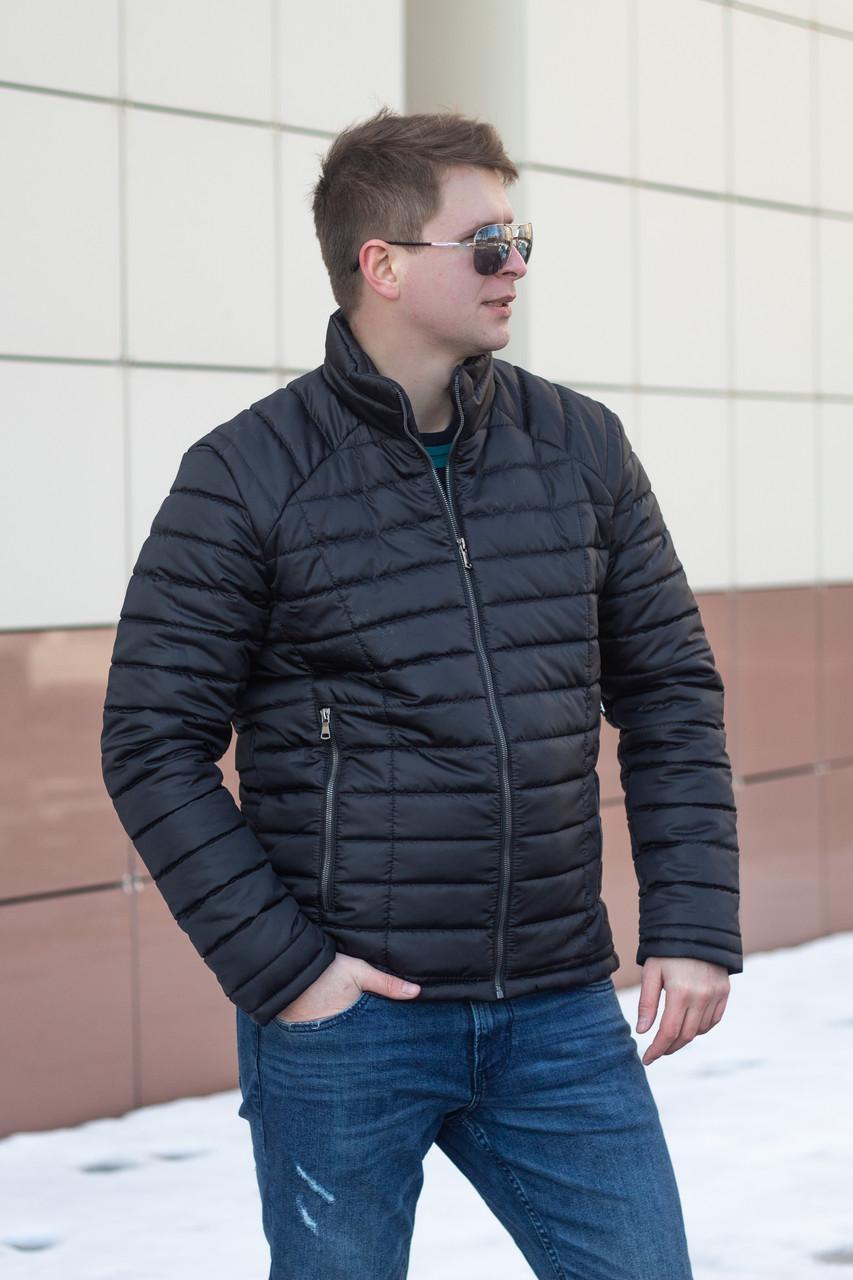 Демисезонная мужская куртка  от производителя  48-56 черный