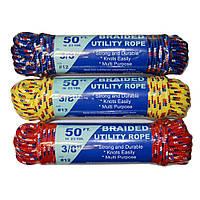 Мотузка туристична Ø 9. 5 мм довжина 15 м різні кольори, фото 1