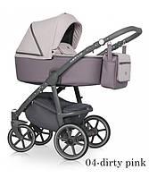 Детская универсальная коляска 2 в 1 Riko Marla 04 Dirty pink (Рико Марла)