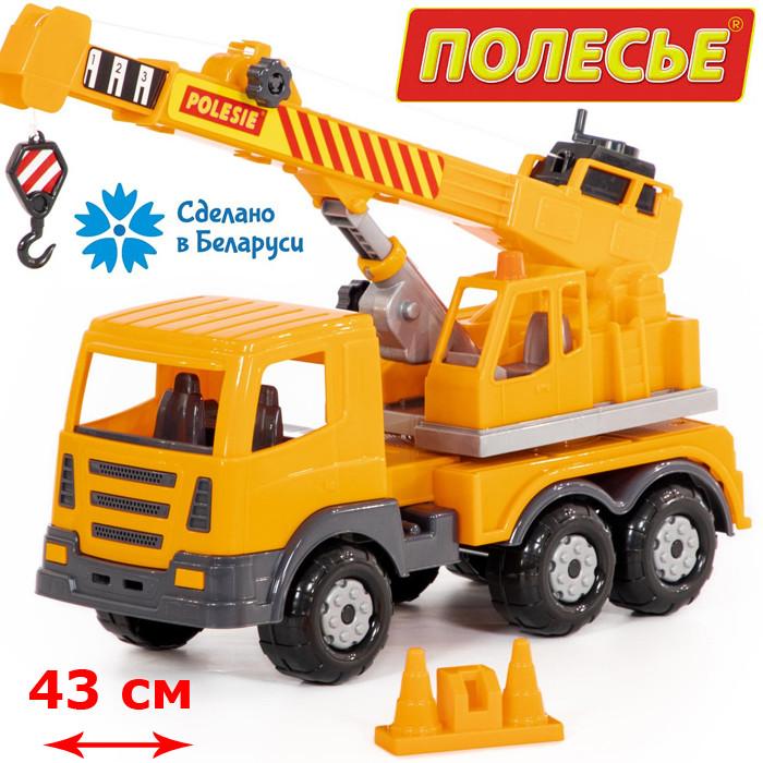 """Игрушка Автокран """"Престиж"""", автомобиль-кран №2 (в лотке) (76533), Полесье"""