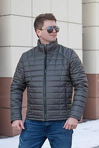 Куртка мужская весенняя от производителя  48-56 серо-зеленый