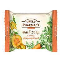 Туалетное мыло. Green Pharmacy. Морковь с маслом тыквы 100 г