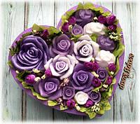 """Композиция """"Сердце с цветами"""""""