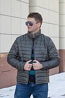 Демисезонная мужская куртка от производителя  48-56 серо-зеленый