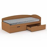 Кровать 90+2С бук Компанит (95х204х70 см)