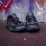 Мужские кроссовки в стиле Adidas Ozweego (Black), Адидас Озвиго (Реплика ААА), фото 3