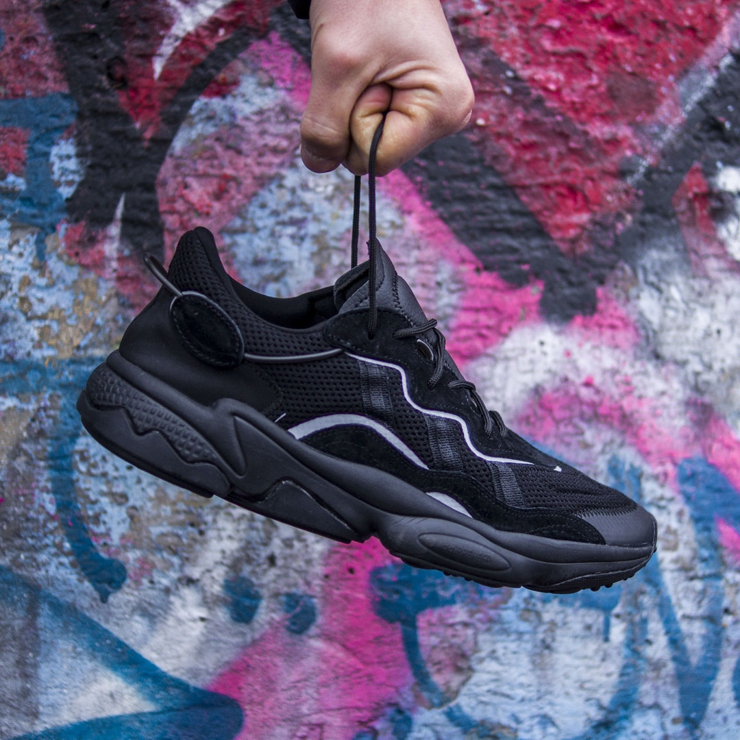 Мужские кроссовки в стиле Adidas Ozweego (Black), Адидас Озвиго (Реплика ААА)
