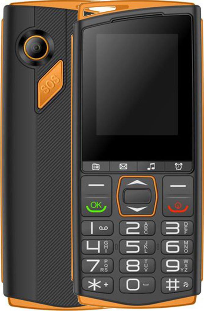 Кнопочный телефон Sigma Comfort 50 Mini4 Black-Orange (4827798337448)