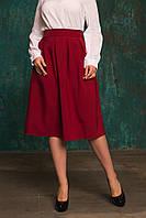 Женская  юбка в складку с потайной молнией в ярких тонах . БАТАЛ, фото 1
