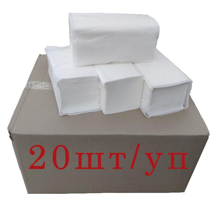 Полотенца бумажные белые целлюлозные двухслойные V-складка, Производитель – GREENIX УКРАИНА