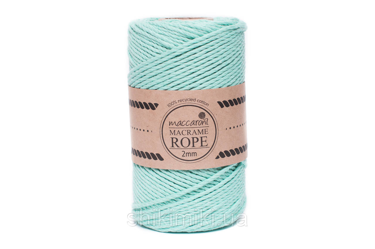 Эко шнур Macrame Rope 2 mm, цвет Ментол