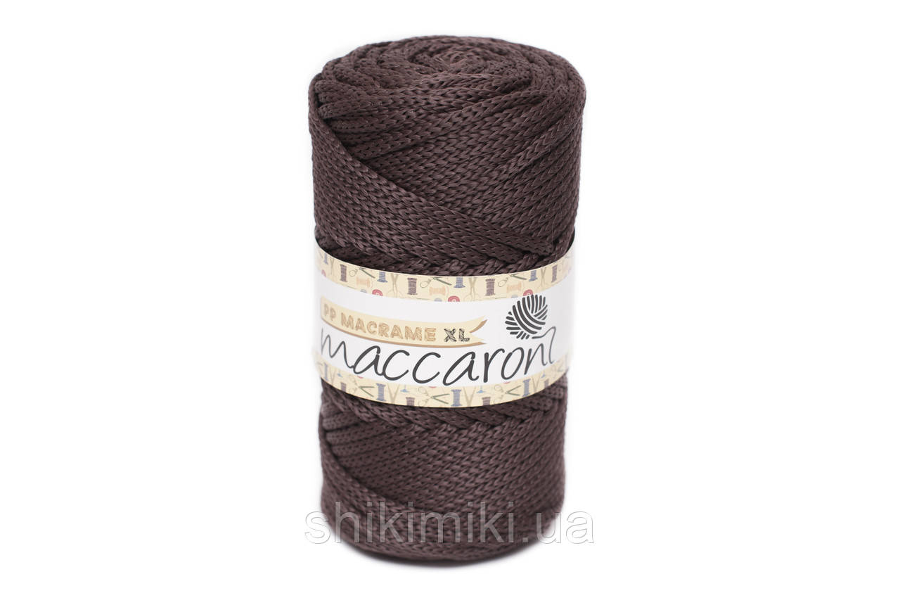 Трикотажный полипропиленовый шнур PP Macrame XL 4 mm, цвет Шоколадный