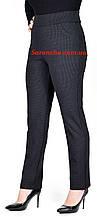 Брюки женские трикотажные классика черный батал размеры от 50 до 58