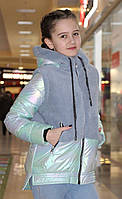 "Демисезонная куртка-жилетка для девочки ""Тея 128-152 см"" Новинка ВЕСНА 2020"