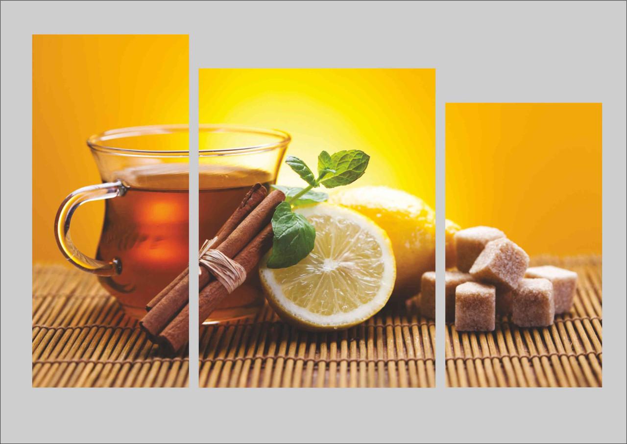 """Картина на кухню с качественной уф печатью """"Чай с корицей"""""""