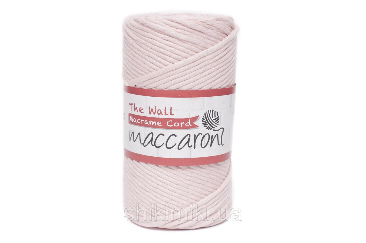 Эко шнур Macrame Cord 3 mm, цвет Нежно розовый
