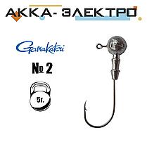 Джиг-головка Gamakatsu н/кр №2 | 5г | 25шт
