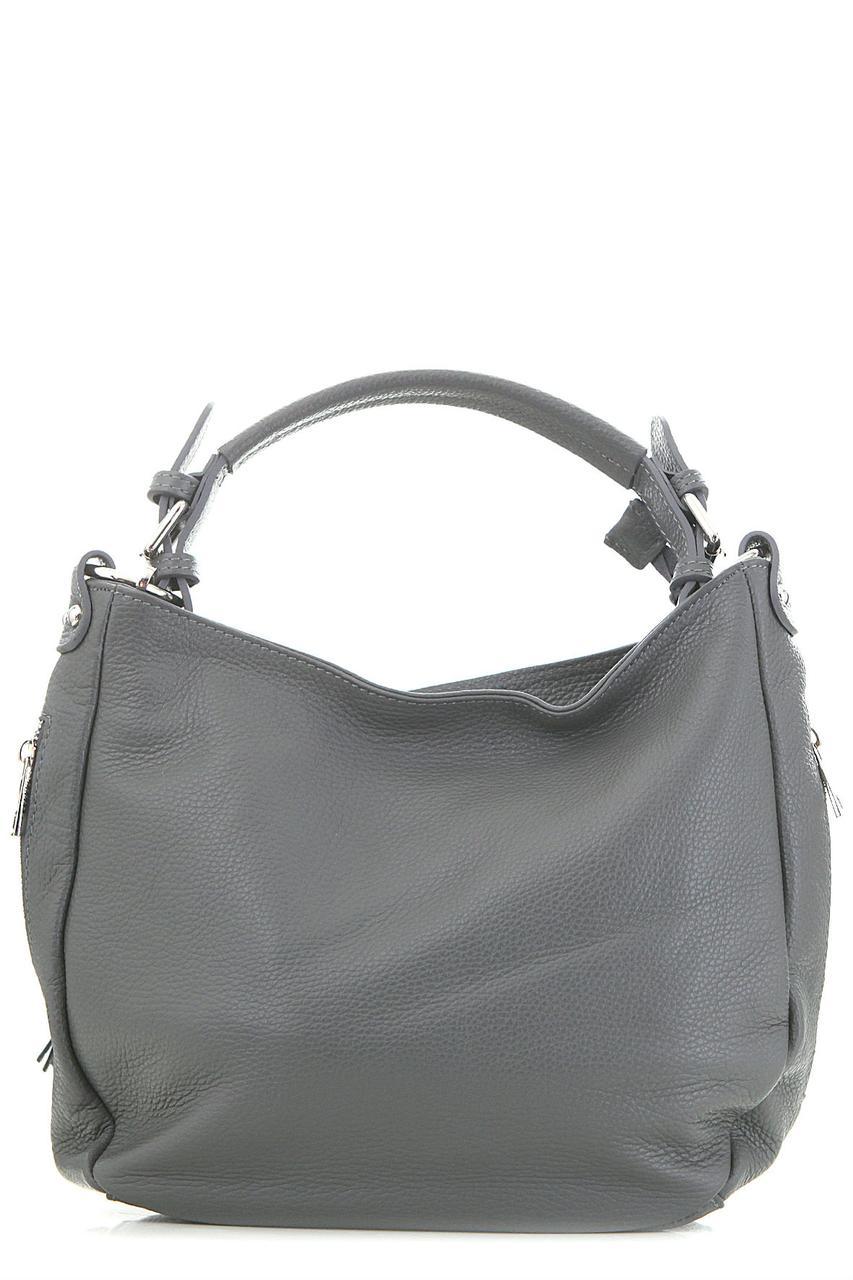 Женская кожаная сумка KARLOTTA Diva's Bag цвет темно-серый