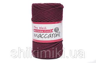 Еко шнур Macrame Cord 3 mm, колір Марсала