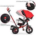 Детский трехколесный велосипед-коляска с поворотным сиденьем TurboTrike M 4058-1 красный, фото 2