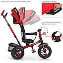 Детский трехколесный велосипед-коляска с поворотным сиденьем TurboTrike M 4058-1 красный, фото 4