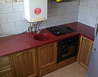 Столешница с мойкой + стол (цена за литую мойку 2400грн./шт.), фото 1