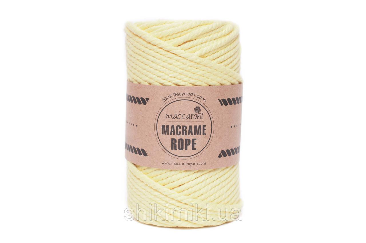 Эко шнур Macrame Rope 4mm, цвет банан