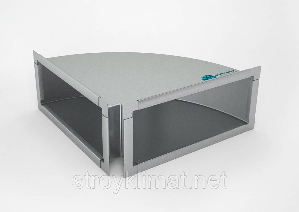 Отвод прямоугольный 600х400 90° 0.7 мм