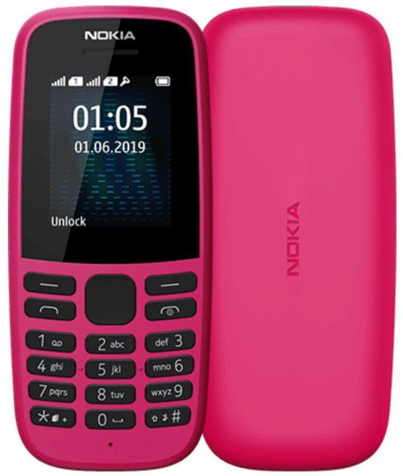 Кнопковий телефон Nokia 105 2019 SS Pink