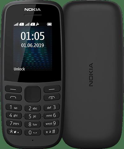 Кнопковий телефон Nokia 105 2019 SS Black