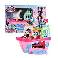 Игровой набор Куклы LOL с кораблем