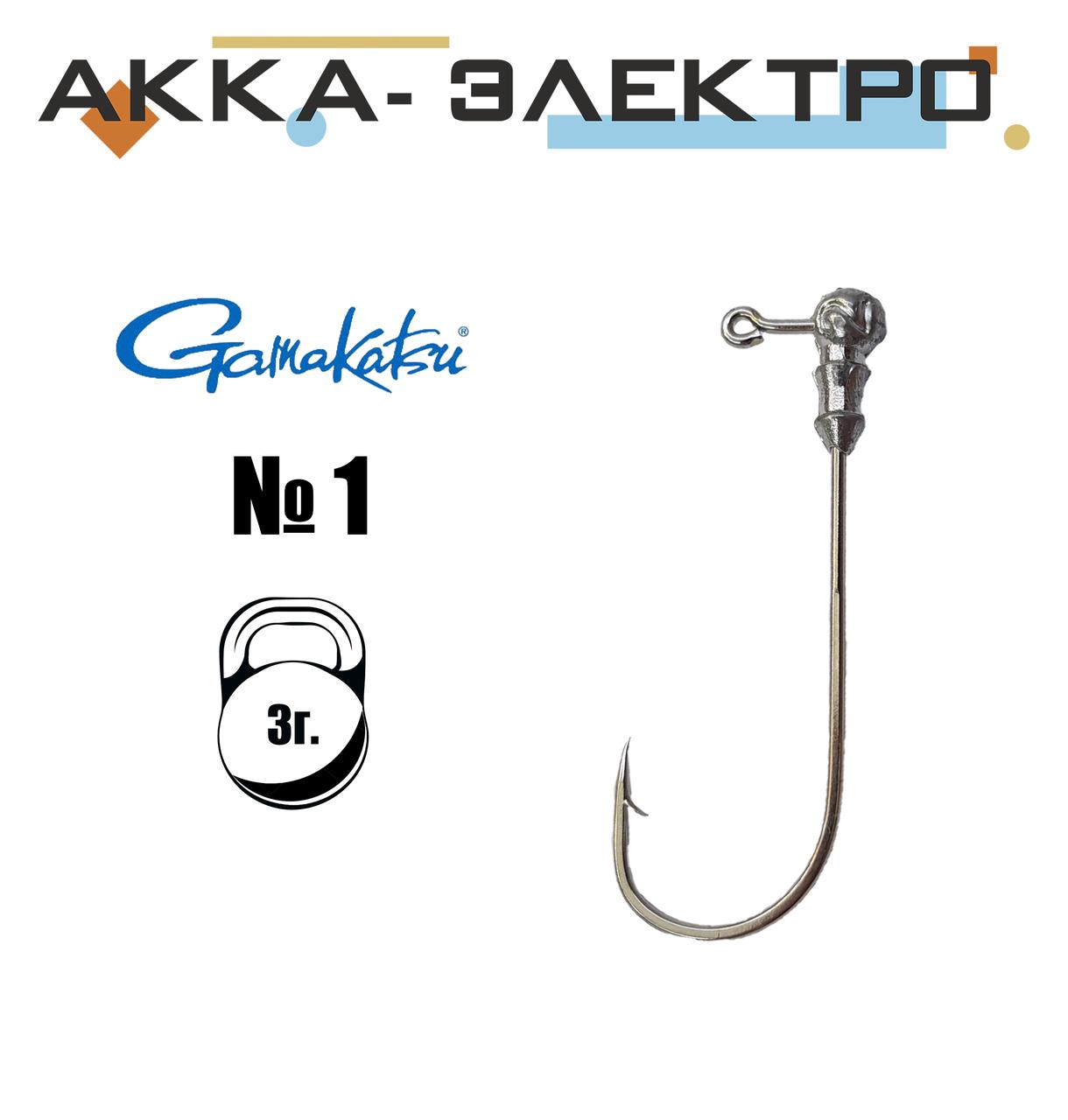 Джиг-головка Gamakatsu н/кр №1 | 3г | 25шт