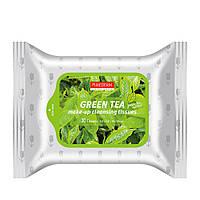 Очищающие салфетки для снятия макияжа с зелёным чаем PUREDERM Make-up Cleansing Tissues Green Tea