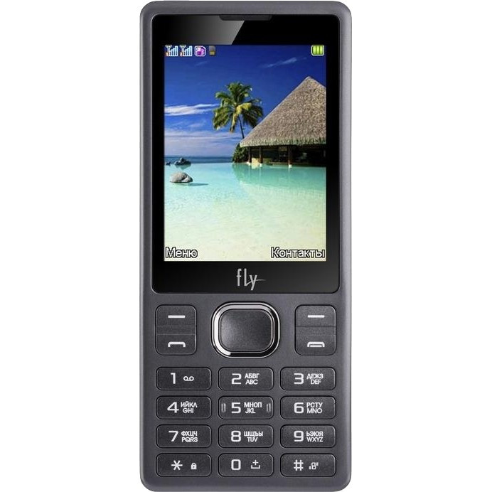 Кнопковий телефон Fly FF282 Dual Sim Black