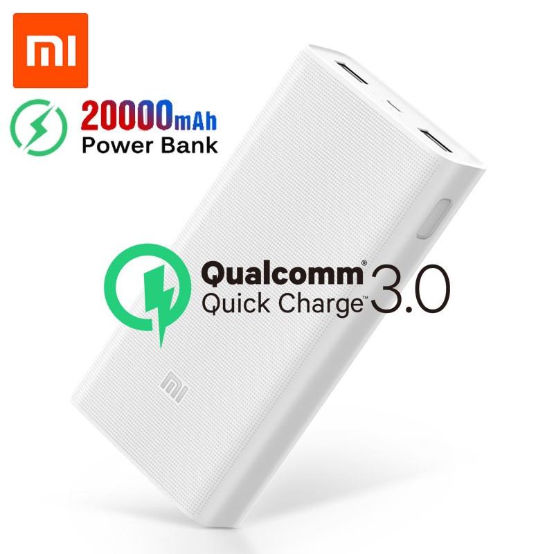 Портативная батарея Xiaomi Mi Power Bank 2C 20000mAh c быстрой зарядкой QC3.0 Оригинал. Повербанк, аккумулятор