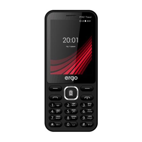 Кнопковий телефон ERGO F282 Travel Dual Sim Black