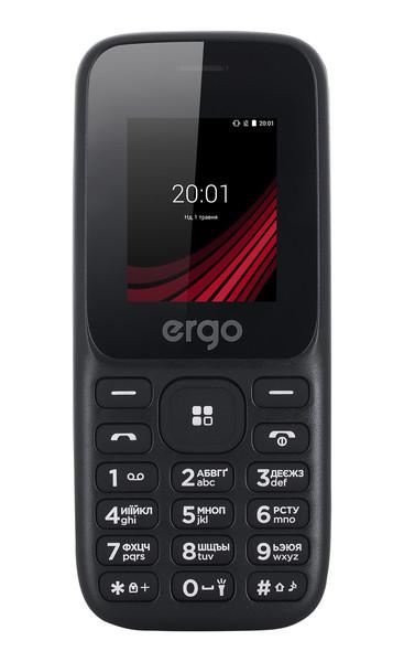 Кнопочный телефон ERGO F187 Contact Dual Sim (black)