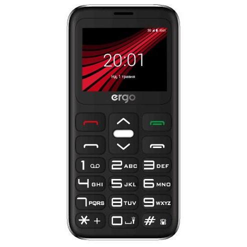Кнопковий телефон Ergo F186 Solace Black