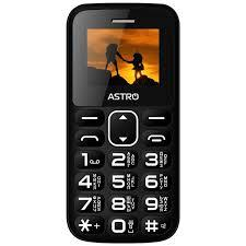 Кнопочный телефон ASTRO A185 Black