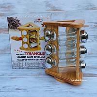 Набор для специй на деревянной подставке Stenson MS-0373 (спецовница)