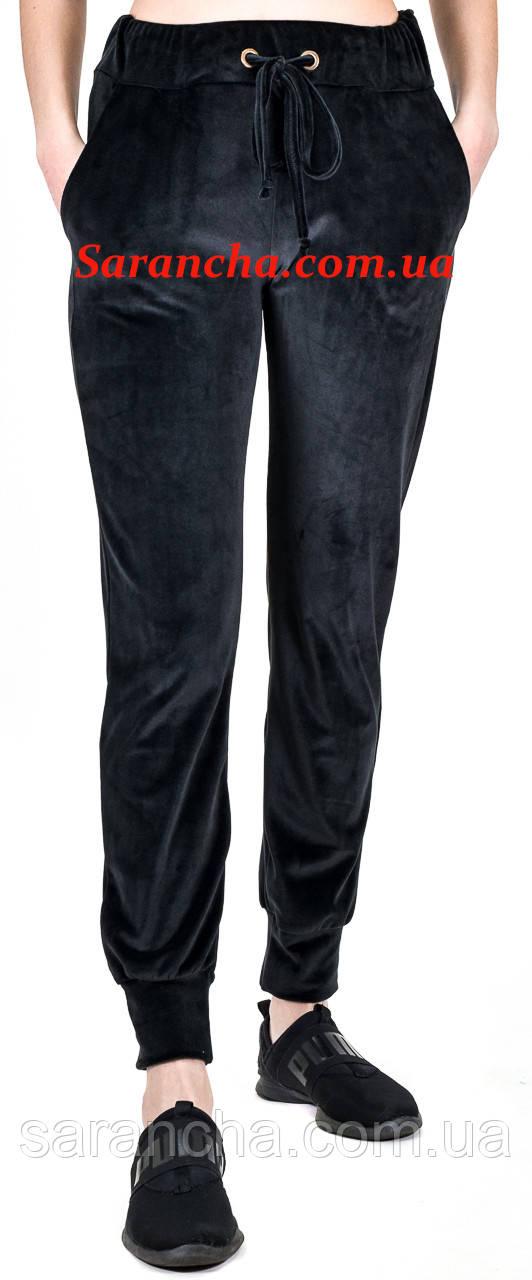 Штанишки на широком манжете ВЕЛЮР черный цвет размеры от 42 до 50