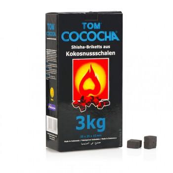 Уголь для кальяна Tom Cococha (3 kg), плоский кубик Blue