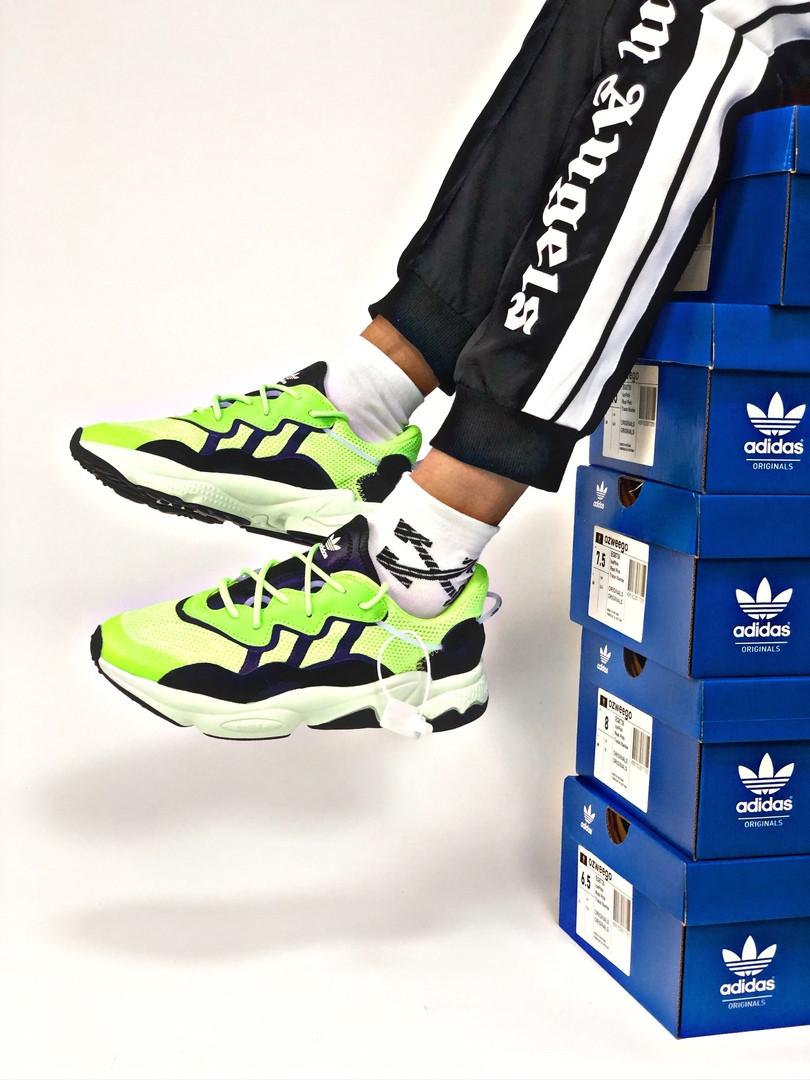 Мужские кроссовки в стиле Adidas Ozweego (Green/Black), Адидас Озвиго (Реплика ААА)