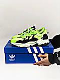Мужские кроссовки в стиле Adidas Ozweego (Green/Black), Адидас Озвиго (Реплика ААА), фото 7