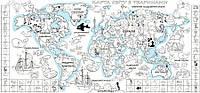 Обои-раскраски Детская карта мира 60*130 см C-130001