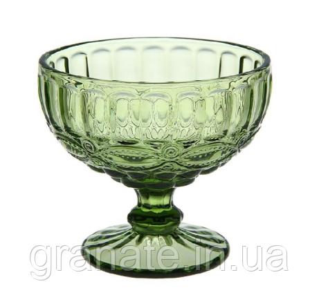 Набор Креманок из цветного стекла 325 мл, цвет: зеленый (6 шт )