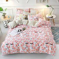 Комплект постельного белья Цветочные реснички (двуспальный-евро) Berni